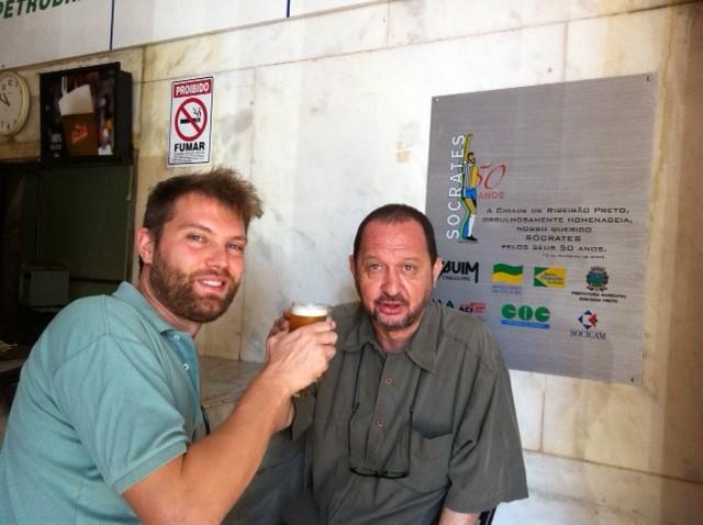 Lorenzo Iervolino in compagnia di Kaxassa durante il suo soggiorno in Brasile