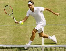 Il pallonetto di Federer…
