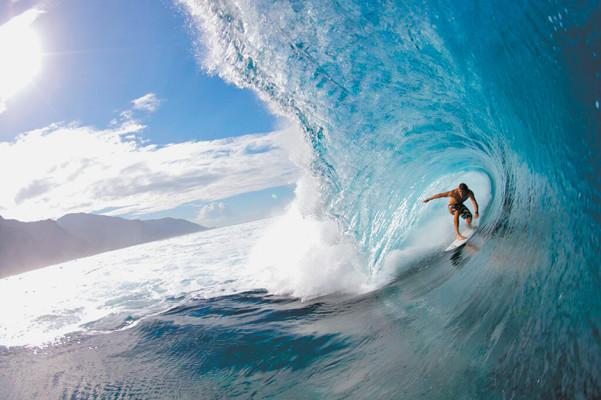 Professional surfer Anthony Walsh, Teahupoo, Tahiti, April 2009